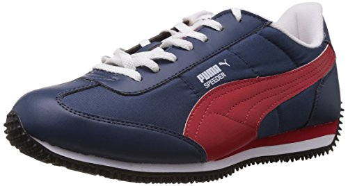 Puma Men's Speeder Tetron II Ind. Insignia Blue, High Risk Red and White Casual Sneakers - 11 UK /India(46EU)  available at amazon for Rs.1874