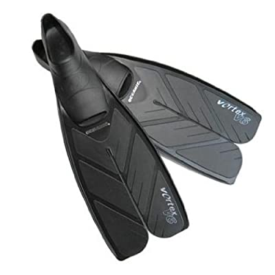 Oceanic Vortex V6 Split Fullfoot Swim Fins - Scuba Diving Fins