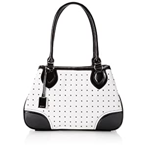 Nine West Show Stopper Satchel MD Top Handle Bag,White/White,One Size