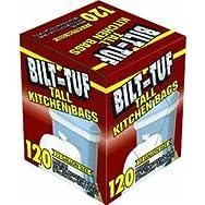 Bilt-Tuf Tall Kitchen Trash Bag-KITCHEN BAG 13G/120CT