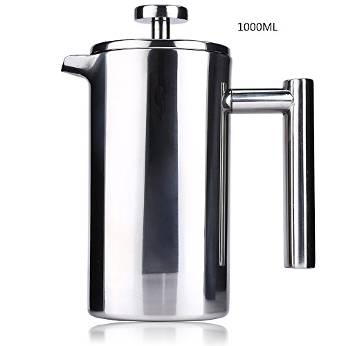 YOOYOO 1000ML Stainless Steel Insulated Coffee Tea Maker with Filter Double Wall (1000ML) (Viking Double Oven Parts compare prices)
