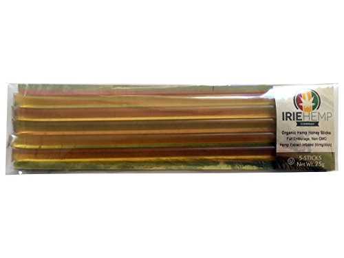 Irie Hemp Organic Honey Sticks - 5 Pack (10mg each) (Manitoba Cleaner compare prices)