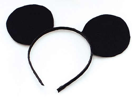 Ears Mouse Black Felt On H'Band