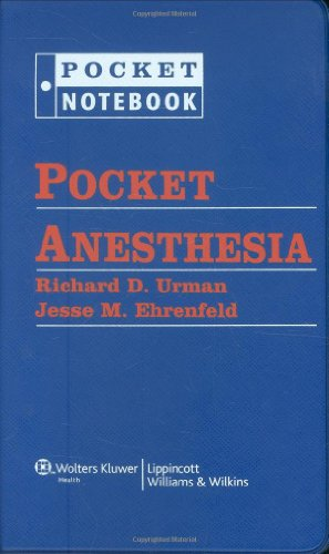 Pocket Anesthesia (Pocket Notebook Series)
