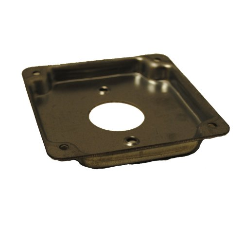 Ammo International Y84405 4-Inch Square Cover, Single Receptacle, 1/2-Inch Deep Minimum Order Of 5 Units