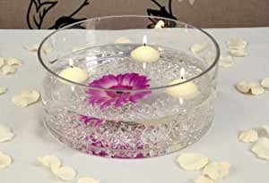 25 x 10cm Extra Large Clear Round Glass Bowl, by White Candle Company