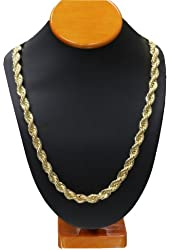 """Gold Tone RUN DMC HIP HOP 30"""" 10mm Rope Chain, Dookie Chain HIGH QUALITY ELECTROPLATED"""