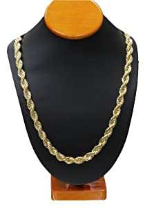 """Gold RUN DMC HIP HOP Rope Chain, Dookie Chain 10mm X 30"""" HIGH QUALITY ELECTROPLATED"""