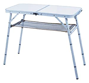 Ming's Mark TA-8104 31 X 15 X 27 Four Position Aluminum Folding Table with Mesh Shelf