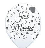 8 Luftballons 30cm just married Hochzeit Hochzeitspaar Brautpaar