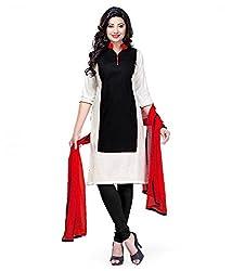 ethnic bazaar blackcotton salwar suit dress material