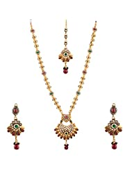 Bhagwathi Antique Long Necklace Set (BGPS005)