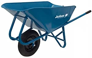 Jackson M6SNT 6 Cubic Foot Narrow Steel Tray Contractor Wheelbarrow With Front Braces & Steel Handles (Discontinued by Manufacturer)