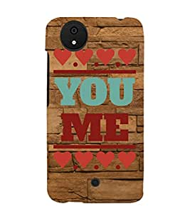 Ifasho Quote On Love You And Me Back Case Cover For Micromax Canvas Android A1