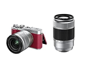 FUJIFILMKit X-A1 Appareil photo numérique Réflex 16.3 Mpix Kit Objectif 16-50 mm + 50-230 mm Rouge