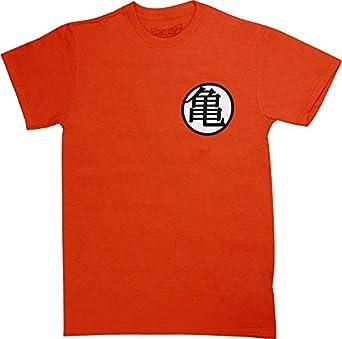 T-Shirt - Orange Dragon Ball Z - Kame Symbol,Small