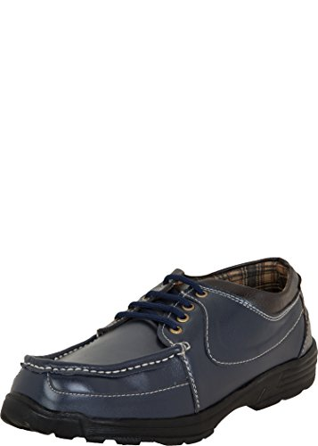 Zovi Zovi Men's Synthetic Navy And Brown Casual Shoes (10788600801)