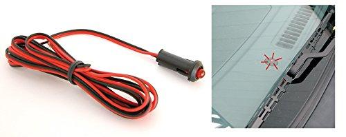 voyant simulateur d alarme led rouge auto voiture camping car antivol. Black Bedroom Furniture Sets. Home Design Ideas