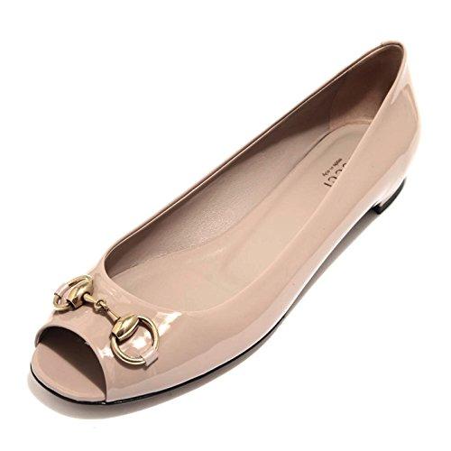 89342 ballerina spuntata GUCCI VERNICE CRYSTAL scarpa donna shoes women [35]