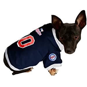 MLB Minnesota Twins Navy Blue Mesh Pet Jersey (X-Large)