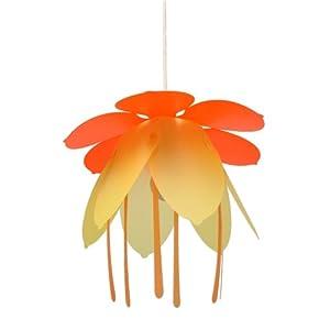 suspension luminaire fleur orange jaune cuisine maison. Black Bedroom Furniture Sets. Home Design Ideas