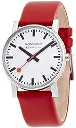 Mondaine Men's A660.30344.11SBC Evo Gents 38 Leather Band Watch