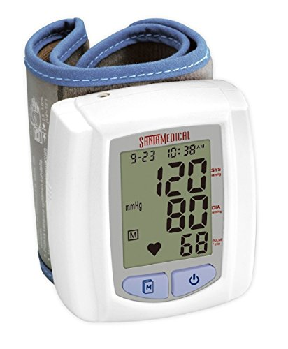 Santamedical Wrist Digital Blood pressure Monitor with Case - Large Display