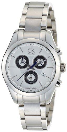 Calvin Klein Strive K0K28120 - Reloj de mujer de cuarzo, correa de acero inoxidable color plata