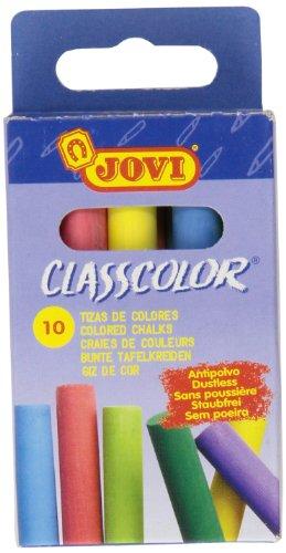 Jovi 307012 - Caja 10 Tizas Antipolvo Colores
