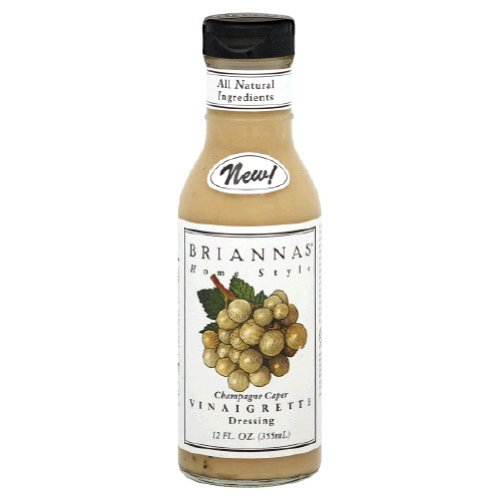 Briannas, Dressing Vrgrt Caper Chmpgn, 12-Ounce (6 Pack)