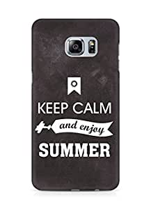 Amez Keey Calm and Enjoy Summer Back Cover For Samsung Galaxy S6 Edge Plus