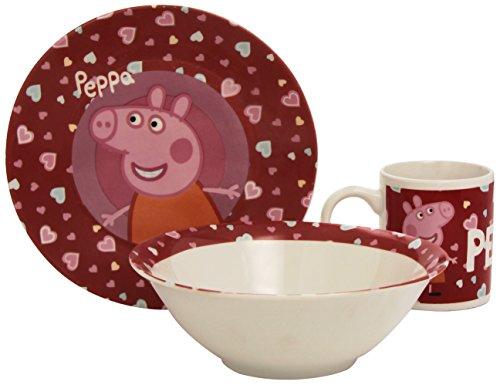 Peppa Pig - Peppa Pig - Set da colazione: piatto + tazza + vasche