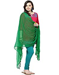 Castle Grass Green Chiffon Dupatta