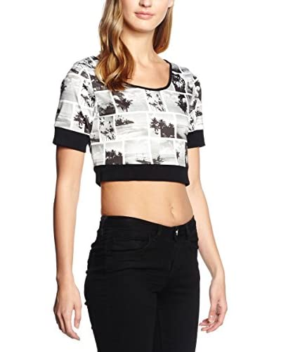 Rare London T-Shirt Manica Corta Tropical Square Print