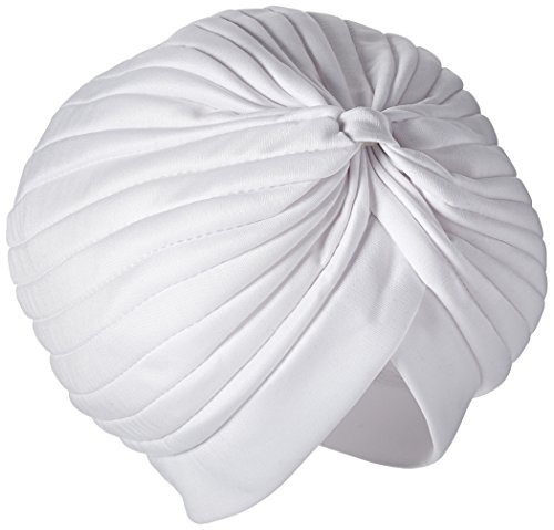 Jacobson Hat Company Men's Spandex Turban, White, Adult - 1