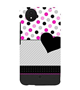 Love Dotted Pinkish Pattern 3D Hard Polycarbonate Designer Back Case Cover for Micromax Android A1 :: Micromax Canvas A1 AQ4502