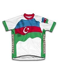 Azerbaijan Flag Short Sleeve Cycling Jersey for Women