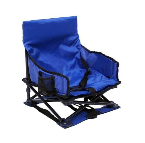 New Blue Portable Child Safety Booster Car Seats W Pvc-Free All-Steel Frame