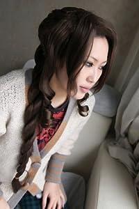FF7 FINAL FANTASY VII Aeris dark brown pre-styled Gainsborough COSPLAY Wig + free brown wig cap
