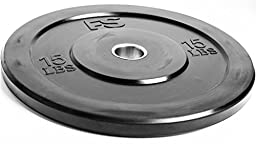 Free Shipping! Fitness Solutions Bumper Plates (Single -15lb)