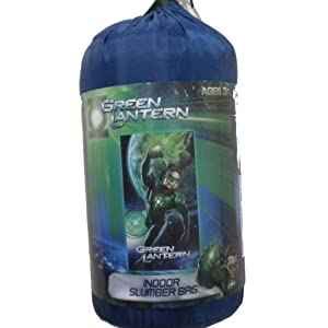 green lantern slumber bag with bonus flashlight