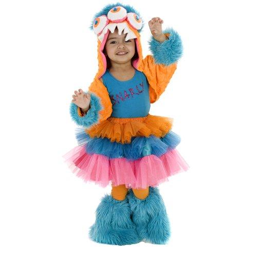 Snarly MonStar Infant Girls 4pc Halloween Costume Set