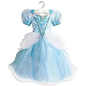 Disney Store Little Girls Light Up Princess Cinderella Costume Dress Blue (5/6)