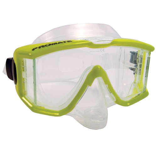 Promate Avanti TL Side-View Edgeless Purge Mask (Clear, Yellow)