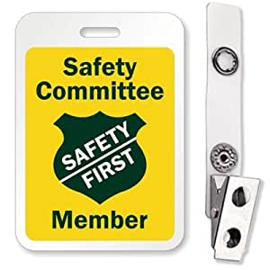 Amazon.com : Safety Committee Member (Safety First), ID Badge, 5