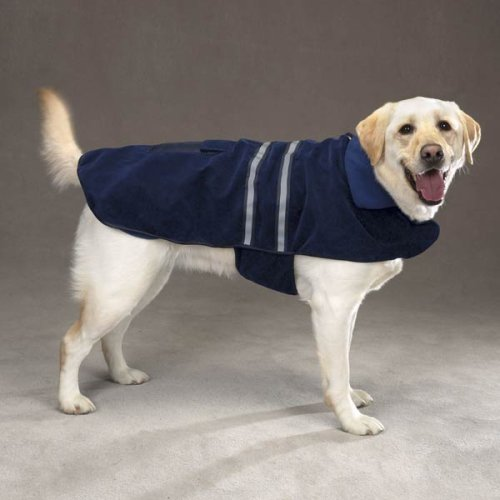 Blue Fleece Reflective Dog Safety Jacket