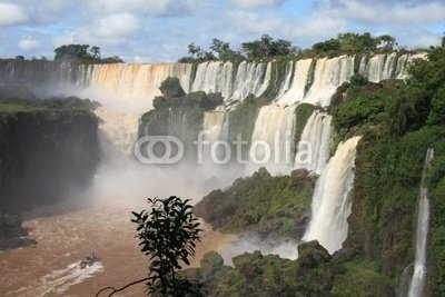 "Wallmonkeys Peel and Stick Wall Decals - Iguazu Water Falls in Misiones Province, Argentina - 18""W x 12""H Removable Graphic"
