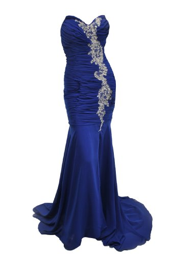 Moonar Chiffon Strapless Sweetheart Straight Prom Formal Gown Party Bridesmaid Wedding Dress