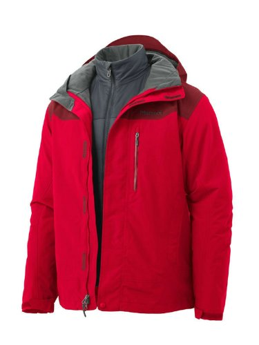 Marmot Bastione Men's Waterproof Component Jacket - Team Red/Brick, X-Large