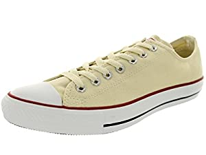 CONVERSE Men's All Star Low Top Specialty Ox,(Unbleached WHT 6.5)